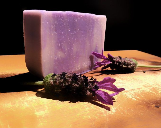 Soothing fragrance of pure lavender - organic oils and Shea - organic Handmade soap by Oi Soaps Australia