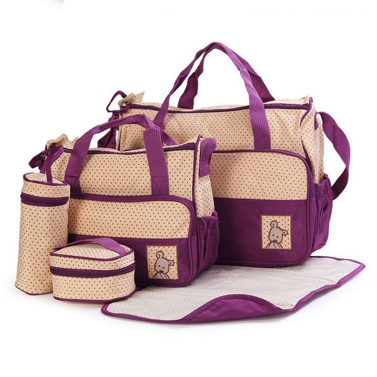 5 개/대 고품질 다기능 토트 아기 어깨 기저귀 가방 내구성 기저귀 가방 엄마 아기 가방 10 색