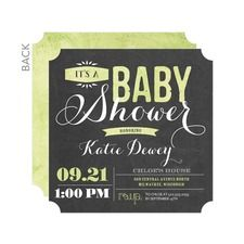Tender Type: Celery Baby Shower Invitations