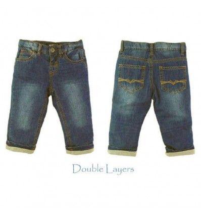 Jual Celana Bayi Anak Smart Baby - Dark Blue Jeans with Cotton Layer - Baju bayi anak branded import Smart Baby - Dark Blue Jeans with Cotton Layer