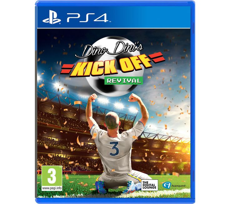 PLAYSTATION 4  Dino Dini's Kick Off Revival Price: £ 19.99 Relive classic football simulation action with Dino Dini's Kick Off Revival for the PlayStation 4. Combining elements from the classic Kick Off and Goal games, Dino Dini's Kick Off Revival offers simple and enjoyable gameplay with high-resolution graphics and updated physics. The game is played with just one button used for passing...