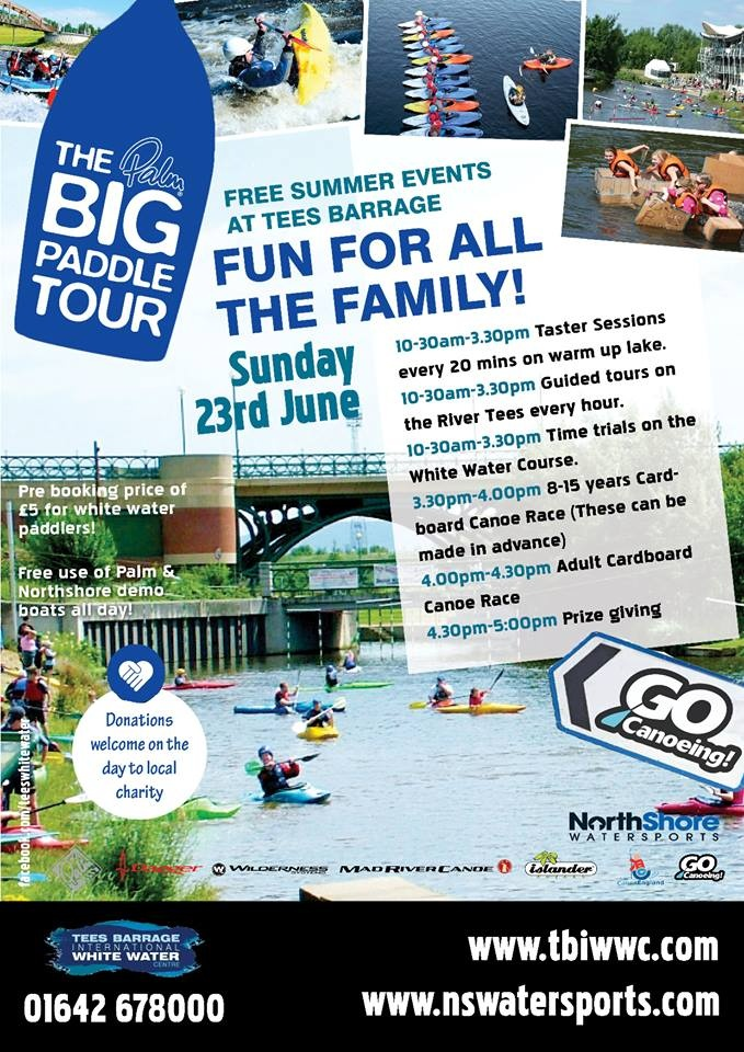 Visit us for The Big Paddle on Sunday 23rd June for our free summer event! #stockton #northeast