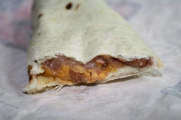 Bean And Cheese Burrito Del Taco Bean And Cheese Burrit...
