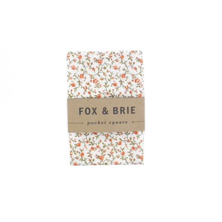 Spice Floral Pocket Square. $24.00, via Etsy.
