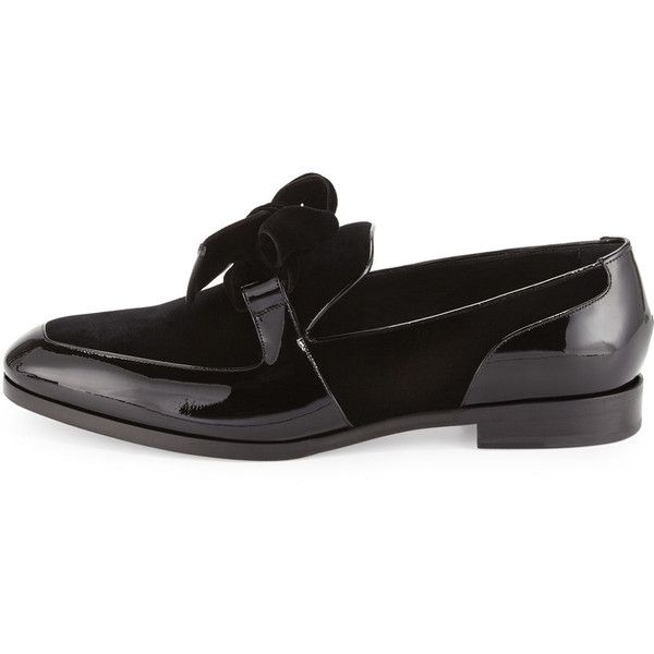 Jimmy Choo Fred Men's Formal Patent Leather Shoe with Velvet ($725) ❤ liked on Polyvore featuring men's fashion, men's shoes, mens patent leather shoes, mens patent shoes, mens patent leather loafers, mens velvet slip on shoes and mens formal loafers