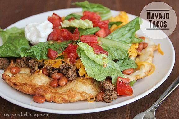 Taste and Tell Thursdays - Navajo Tacos - Taste and Tell
