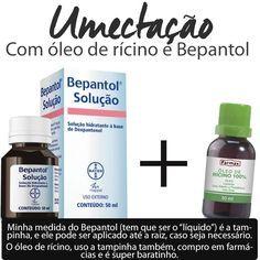 Umectação com óleo de rícino e Bepantol solução:o tratamento ideal para cabelos ressecados, quimicamente tratados e danificados, que hidrata e nutre os fios