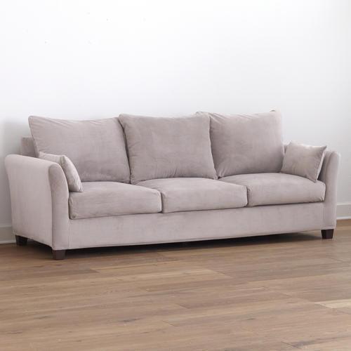 Grey Mink Luxe Three-Seat Sofa Velvet Slipcover Collection