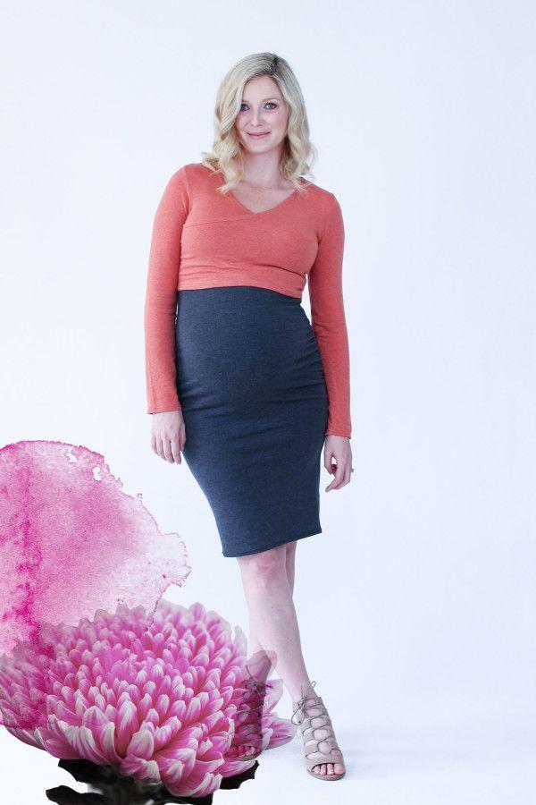 Megan Nielsen Alissa wrap maternity sewing pattern
