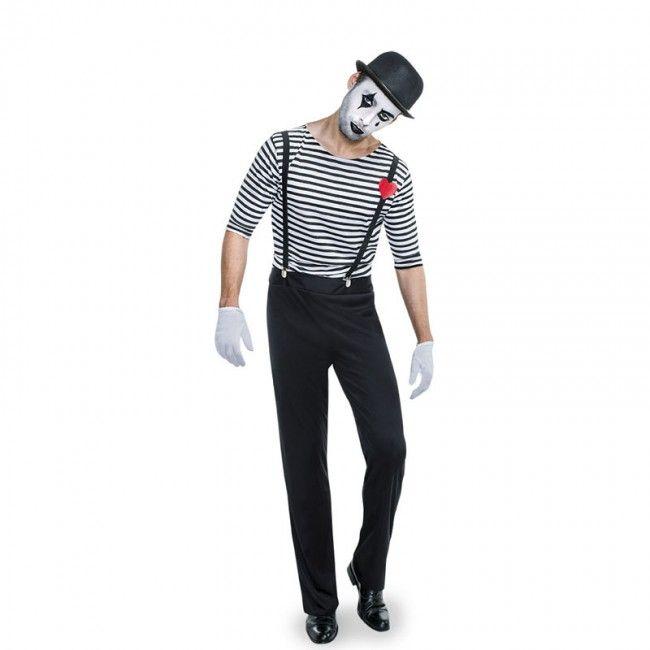 Disfraz de Mimo Clown para hombre #disfraces #carnaval #novedades2017