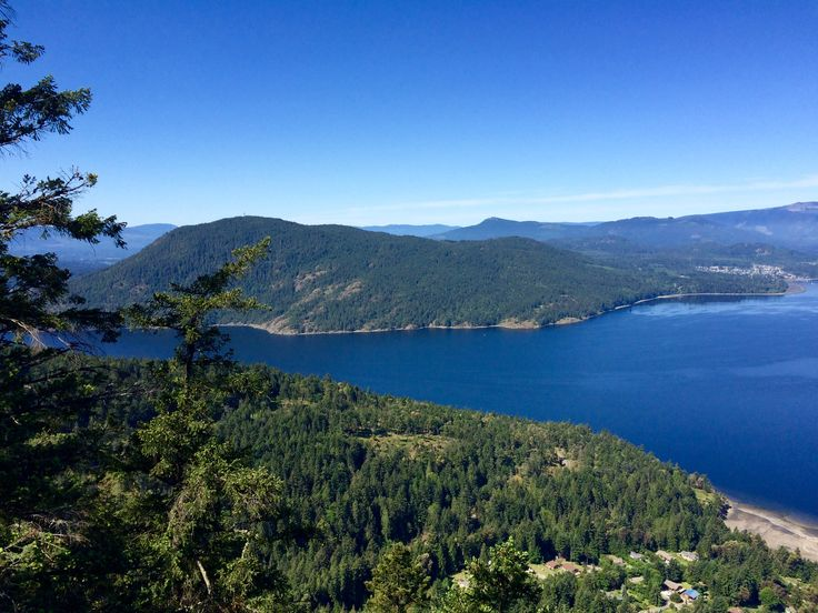 A view from Mount Erskine on Salt Spring Island