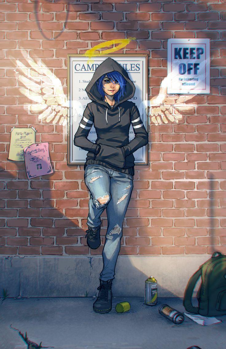 Commission: Girl in the Alley, Whitney Lanier on ArtStation at https://www.artstation.com/artwork/VQGNN