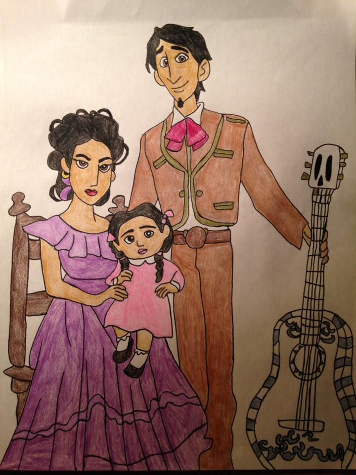 Hector Imelda And Their Daughter Coco In The Rivera Family