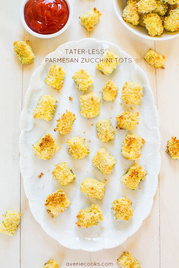 Tater-Less Parmesan Zucchini Tots #recipe from @averie