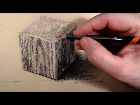 How to Draw  a Wooden Cube - Drawing Cube Step by Step - Tutorial