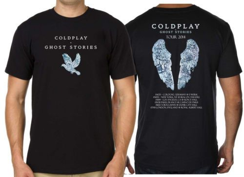 >> Click to Buy << COLDPLAY Ghost Stories T shirt Men two sides WORLD TOUR 2014 casual gift tee USA Size S-3XL #Affiliate