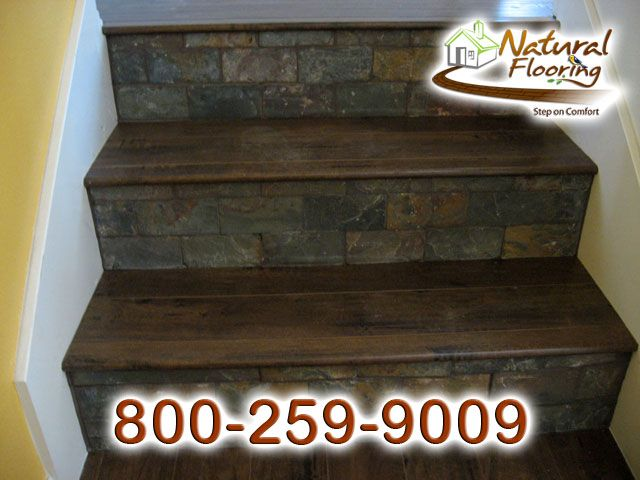 Wood Stairs With Tile Risers   Google Search