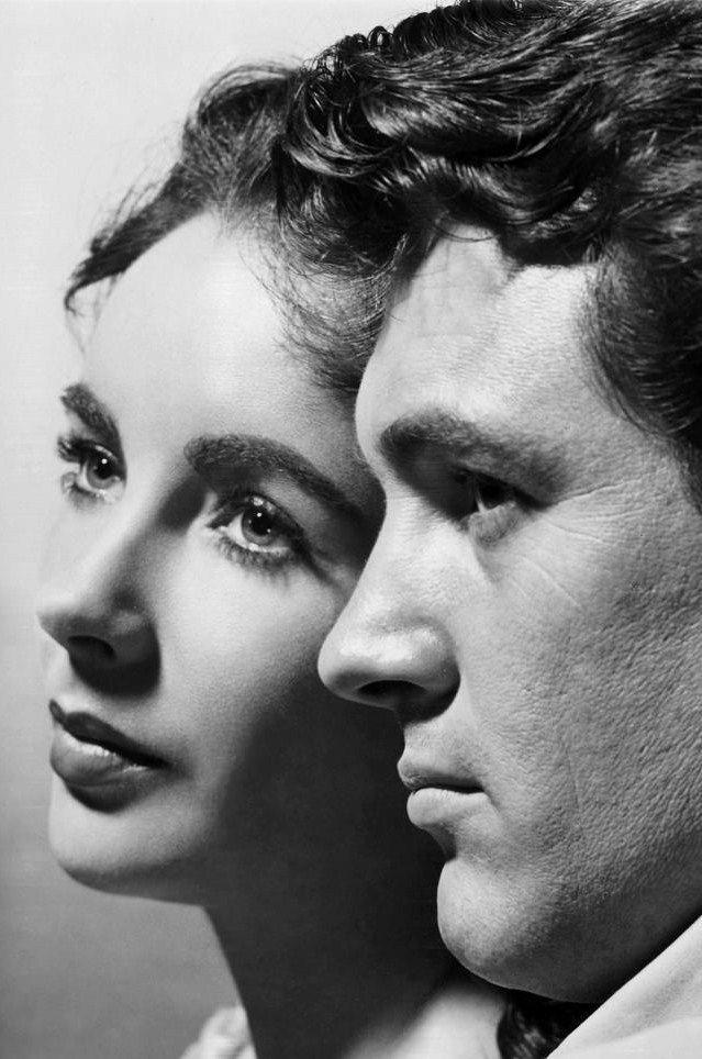 "Elizabeth Taylor and Rock Hudson in ""Giant"" (1956) by George Stevens"