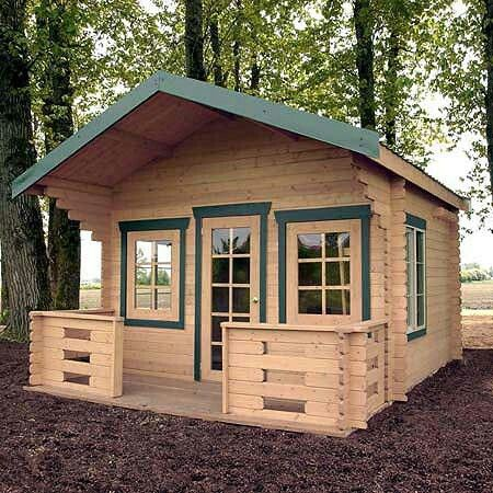 Cabin kit tiny house campsite ideas pinterest cabin for Small camping cabin kits