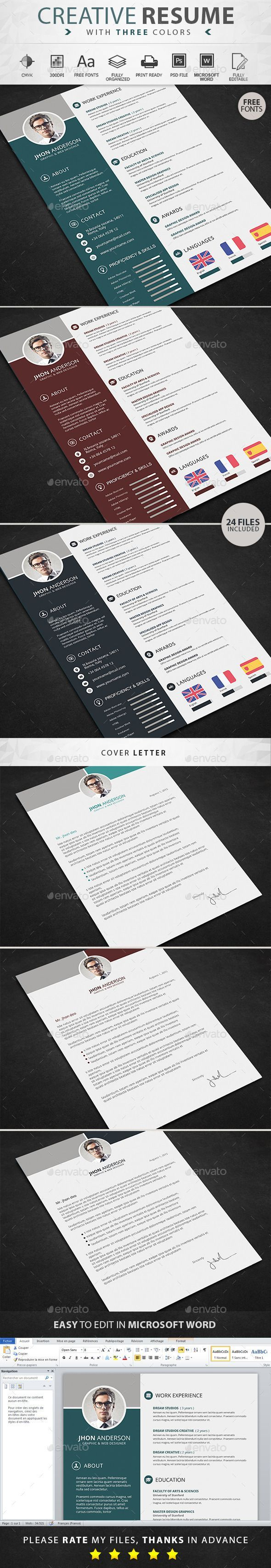 17 best images about resume design infographic resume template bundle cover letter for ms word modern - Rate My Resume