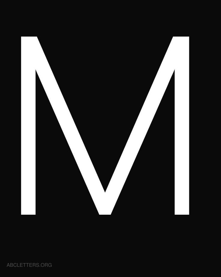 Large ABC Letters White Black M | Crafts | Pinterest ...