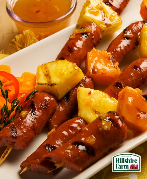 Kick off summer with a sweet BBQ treat! These Summertime Kabobs featuring Hillshire Farm® Smoked Sausage are a hit at any party. You can find this recipe and more grilled goodness here!