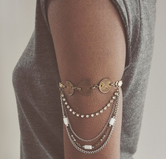 Arm Chain Upper Arm Chain Vintage Recycled by SeventhVintage, $49.95 #Summer