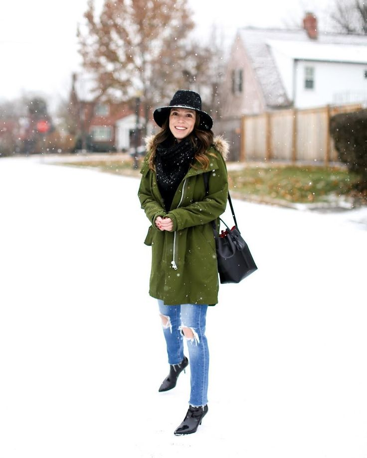 This is my face for the first few times it snows  and then after that I just keep asking when is spring coming?  In non-weather news today on the blog I am highlighting all the jeans in my closet I love that are under $100. I love my designer denim but I have found SO many great styles for much less. Head to the blog for all details  http://ift.tt/Z99I7w #winter #winterfashion #wiw #whatiwore #snow