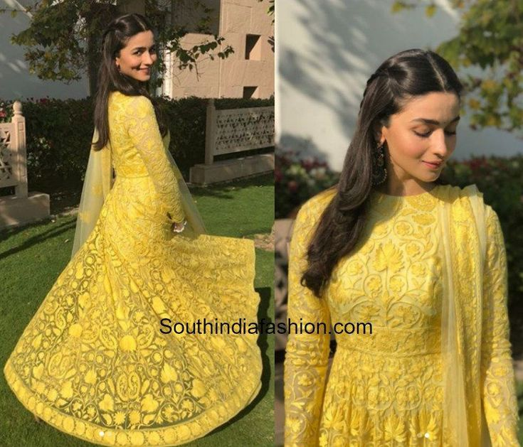 Alia Bhatt in Manish Malhotra for her friends mehendi in Jodhpur photo #indiafashion,