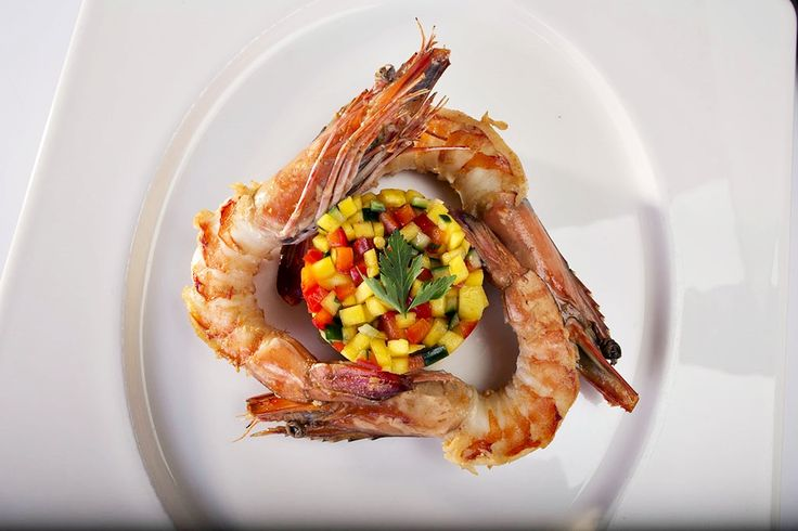 Tiger prawns with vegetables brunoise @ Osteria Gioia