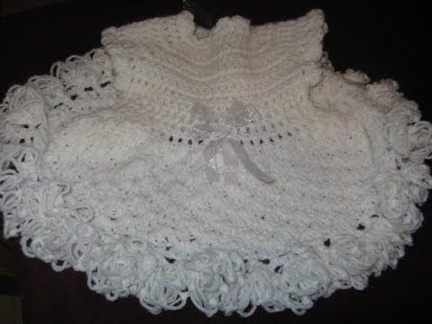 #Crochet baby party dress.   Easy to follow video tutorial.  Love this dress!