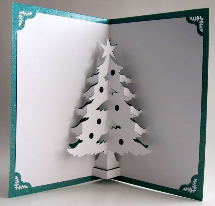 Вставить стихи, как сделать внутри открытки елку объемную