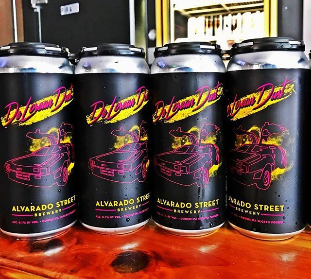 @alvaradostreetbrewery DeLorean DIPA cans are here and ready to go!  One 4-pack/person please. So get here and get yours, they will go quick!  Cheers and Happy Thirsty Thursday!  #alvaradostreetbrewery #alvaradothursdays #deloreandust #dipa #canrelease #cansoncansoncans #craftbeer #chuglife #chugfresh #chuglocal #chugalways #cheers #montereylocals - posted by Caps & Taps https://www.instagram.com/capsandtaps - See more of Monterey Bay at http://montereylocals.com