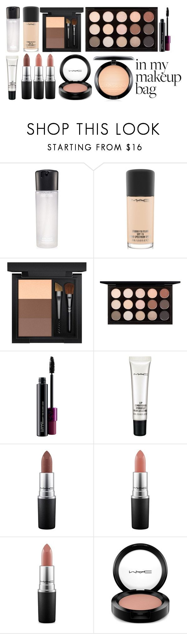 """""""Mac Makeup Bag"""" by jasminetzuberi on Polyvore featuring beauty and MAC Cosmetics"""