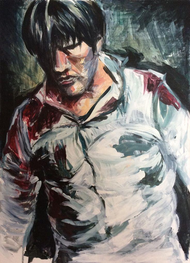 Hannibal, acrylic on panel.