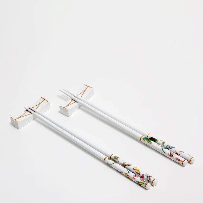 set of chopsticks and chopsticks rest