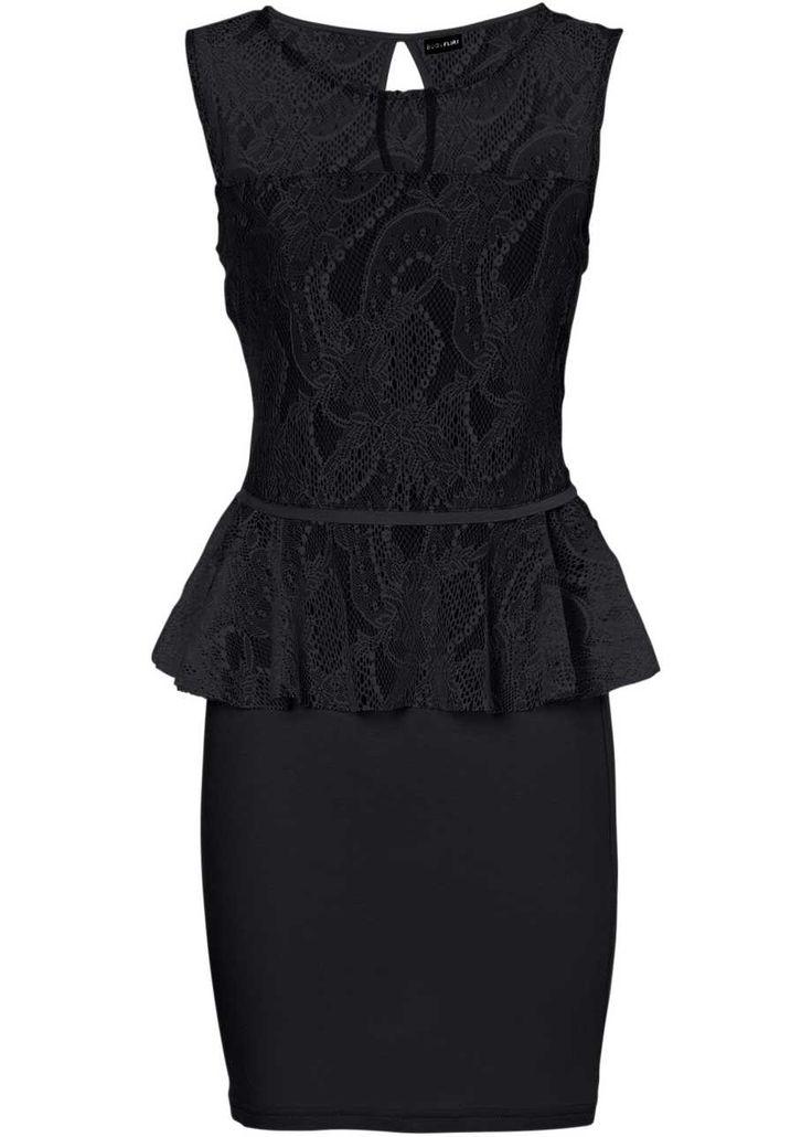 Krajkové šaty, BODYFLIRT, černá