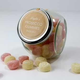 Personalised Fizzy Prosecco Gummies