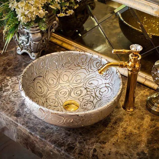 Pin On Accesorios Para Baño, Patterned Bathroom Sinks