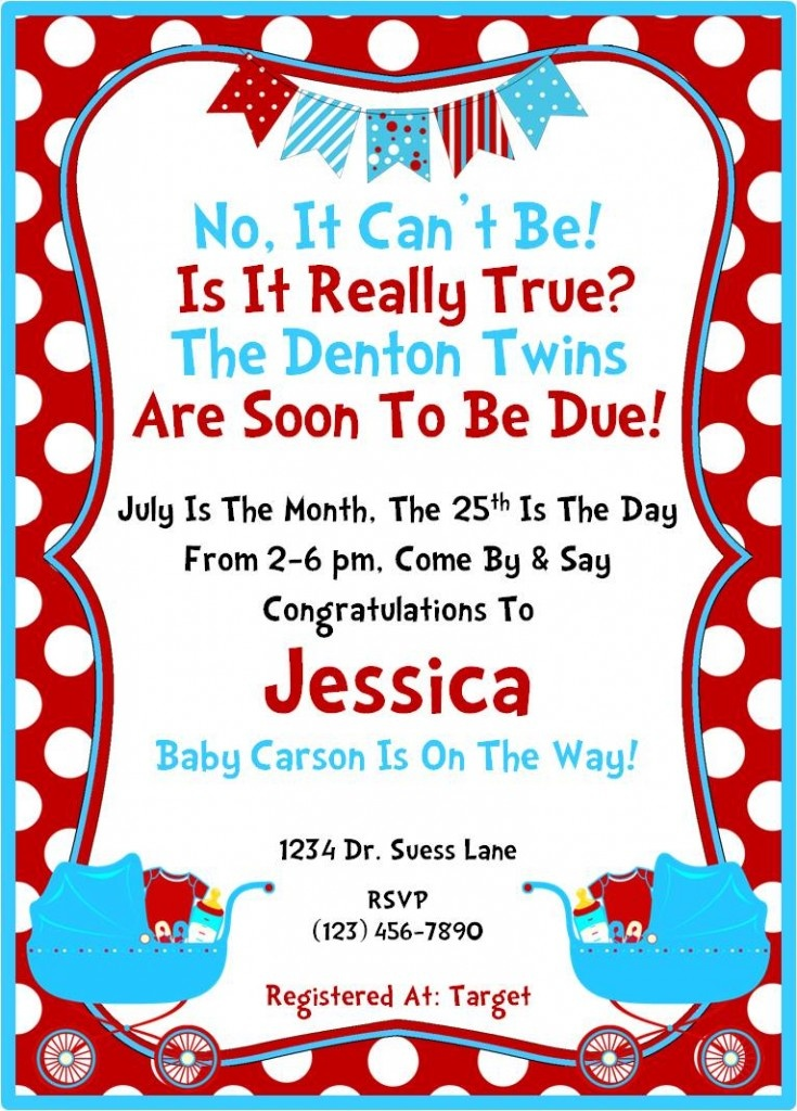 dr seuss invitation baby shower ideas pinterest