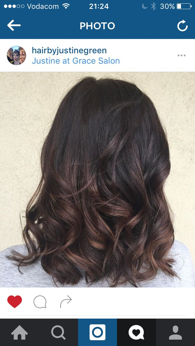 Balayage low lights. Dark brown hair with subtle low lights #hairbyjustinegreen #gracesalon