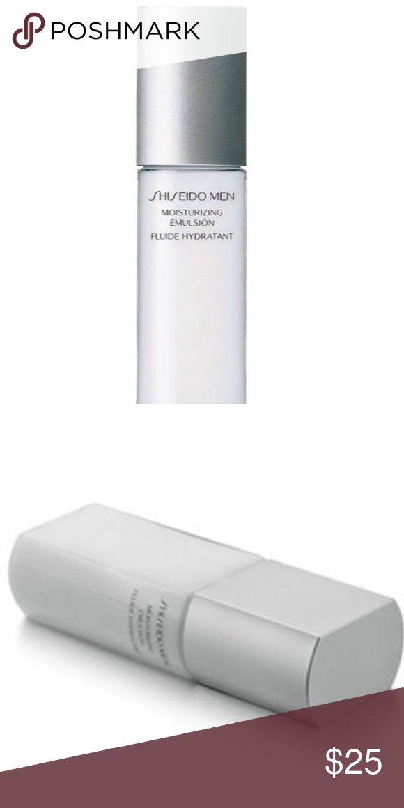 NWOT Shiesedo Men's Moisturizer Minimizes razor burns and combats redness, roughness. Provides high level of hydration and keeps skin moisturized for hours. Fights against environmental stress and dryness. Shiseido Other