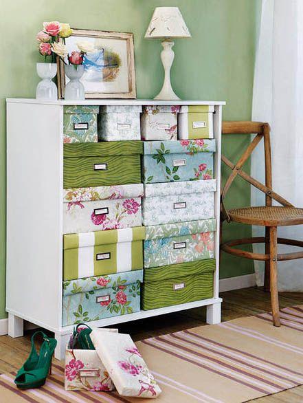 Encape caixas de papelão e tenha caixas lindas para organização