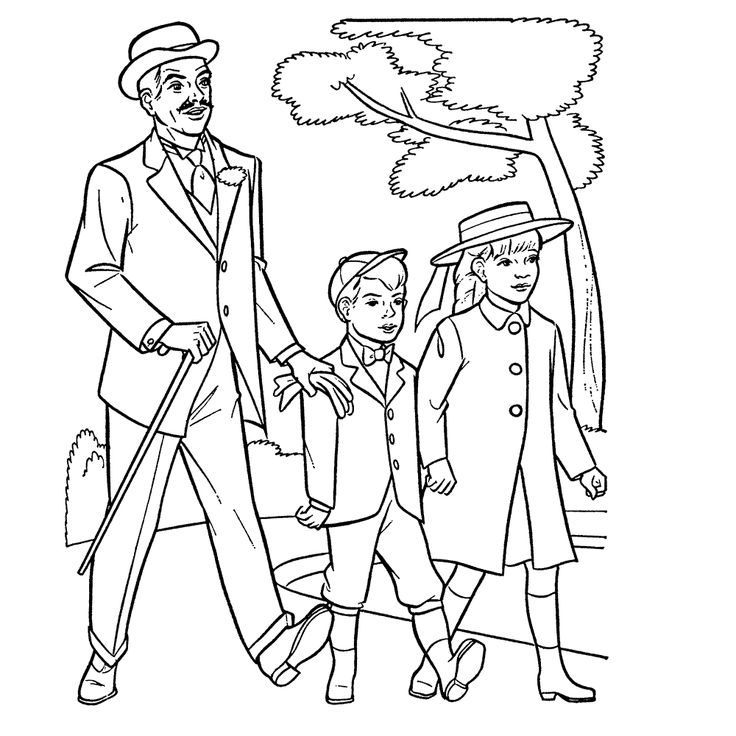 mary poppins coloring pages book - photo#7