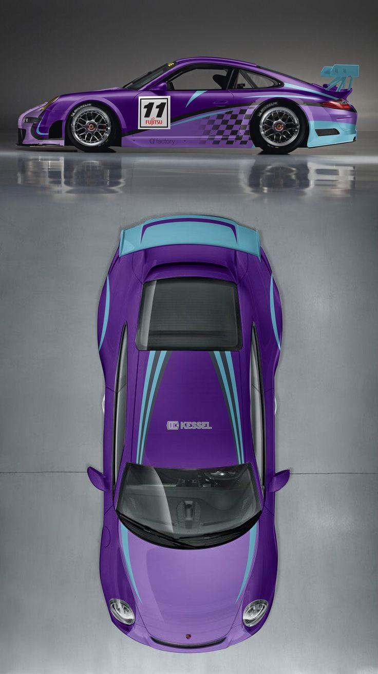 Sprint car sticker designs - Design Rennauto Racing Car Porsche Cup 991