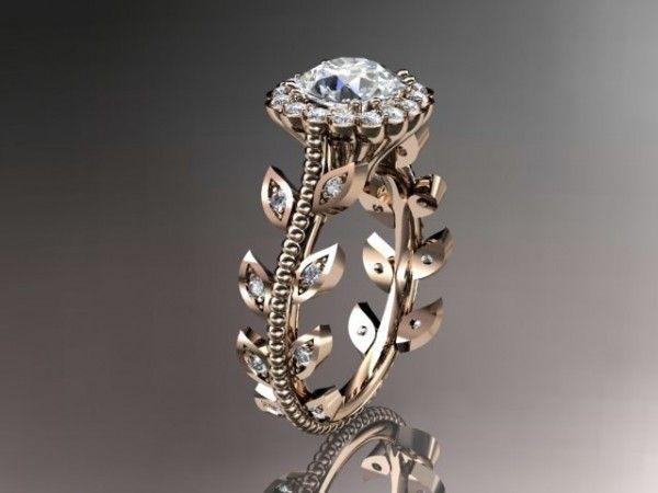 Diamond leaf and vine wedding ring - Wedding Diary