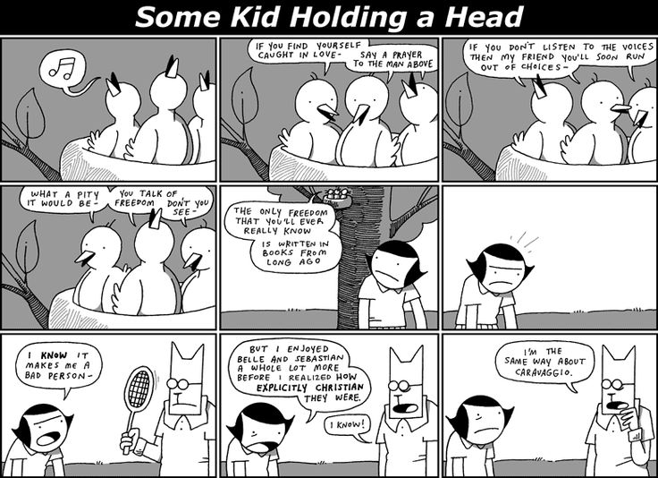 Some Kid Holding a Head