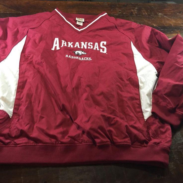 Mens Arkansas Razorback Pullover Lined Jacket Sz XL #RedOak