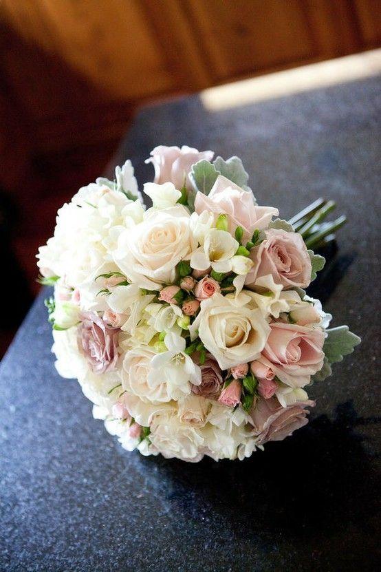 Wedding flowers - roses freesia