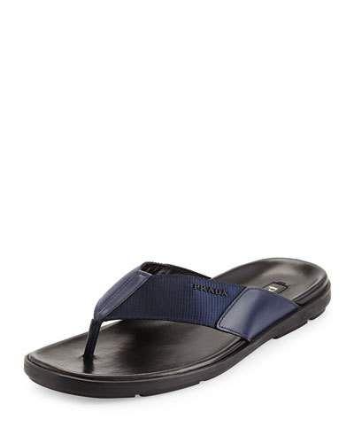 Prada+Men's+Nylon+Flip+Flops+Blue+ +Sandals,+Shoes+and+Footwear